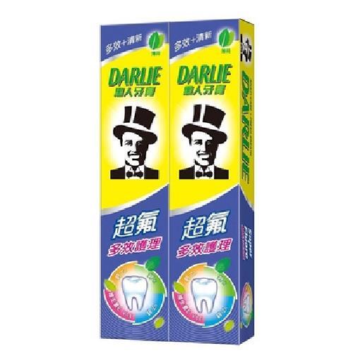 《黑人》超氟多效護理牙膏(180g*2入/組)
