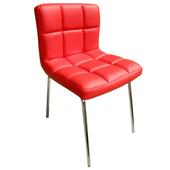 《E-Style》高級精緻PU皮革椅面-洽談椅/會客椅/餐椅(三色可選)-2入/組(紅色)