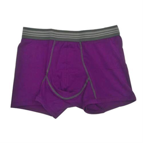 IN IN男彩色棉平口褲(紫#M)