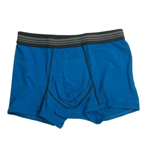 IN 男彩色棉平口褲(藍#L)