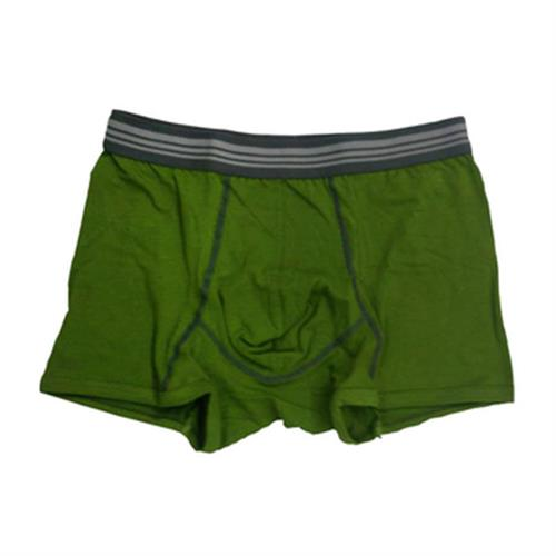 IN 男彩色棉平口褲(綠#M)