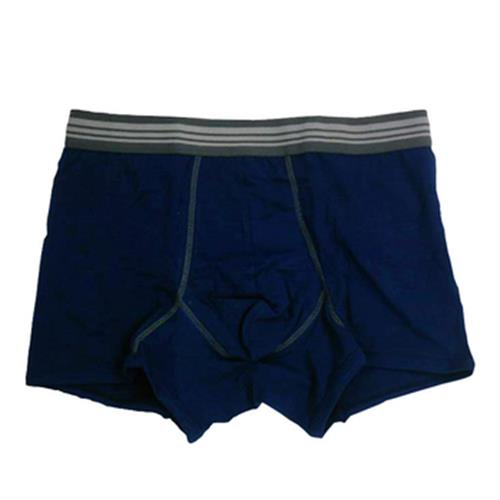 IN 男彩色棉平口褲(深藍#XL)