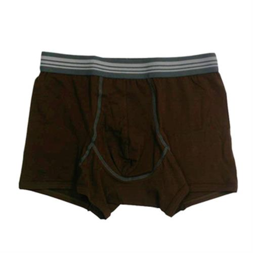 IN 男彩色棉平口褲(咖啡#M)