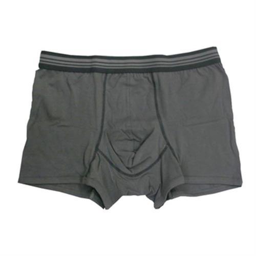 IN 男彩色棉平口褲(淺灰#M)