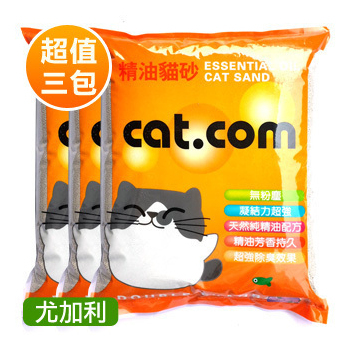《貓達康貓砂》尤加利香味 小球砂(10L x3包)