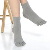 《【KEROPPA】》可諾帕吸濕排汗竹炭保健五趾女短襪(2雙C90009-灰色)
