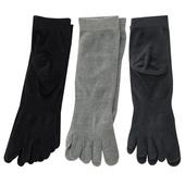 《【KEROPPA】》可諾帕吸濕排汗竹炭保健五趾女短襪(綜合3雙C90009-B)