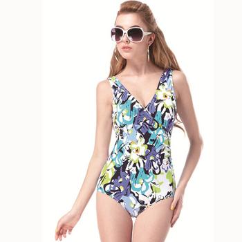 《【SAIN SOU】》大女連身三角泳裝附泳帽A91302(L)