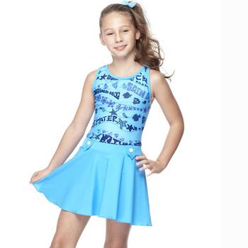 《【SAIN SOU】》少女連身裙泳裝附泳帽A88428(M)