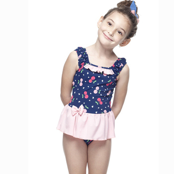 【SAIN SOU】 MIT女童連身裙泳裝附泳帽A88425(12)