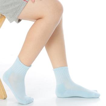 《【KEROPPA】》可諾帕3~6歲學童專用毛巾底氣墊短襪(4雙(男女適用)C93002-B-淺藍)