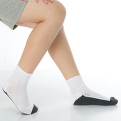 《【KEROPPA】》可諾帕3~6歲學童專用毛巾底氣墊短襪(4雙(男女適用)C93002-B-白配深灰)