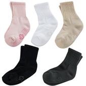 《【KEROPPA】》可諾帕3~6歲學童專用毛巾底止滑短襪(綜合5雙(男女適用)C93001)