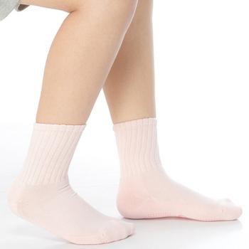 《【KEROPPA】》可諾帕7~12歲學童專用毛巾底止滑短襪(3雙(男女適用)C93001淺粉)