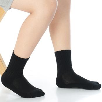 《【KEROPPA】》可諾帕7~12歲學童專用毛巾底止滑短襪(3雙(男女適用)C93001黑色)