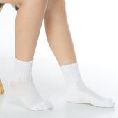 《【KEROPPA】》可諾帕7~12歲學童專用毛巾底氣墊短襪(4雙(男女適用)C93002白色)
