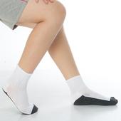 《【KEROPPA】》可諾帕7~12歲學童專用毛巾底氣墊短襪(4雙(男女適用)C93002白配深灰)