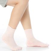 《【KEROPPA】》可諾帕7~12歲學童專用毛巾底氣墊短襪(4雙(男女適用)C93002淺粉)