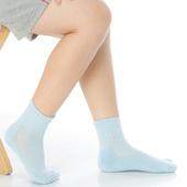 《【KEROPPA】》可諾帕7~12歲學童專用毛巾底氣墊短襪(4雙(男女適用)C93002淺藍)