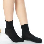 《【KEROPPA】》可諾帕7~12歲學童專用毛巾底氣墊短襪(4雙(男女適用)C93002黑色)
