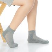 《【KEROPPA】》可諾帕7~12歲學童專用毛巾底氣墊短襪(4雙C93003灰色)