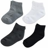 《【KEROPPA】》可諾帕7~12歲學童專用毛巾底氣墊短襪(綜合4雙C93003)