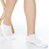 《【KEROPPA】》可諾帕細針毛巾底氣墊加大船襪(4雙(男女適用)C91001-白色)