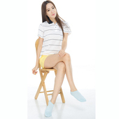 《【KEROPPA】》可諾帕細針毛巾底氣墊船型襪(4雙(男女適用)C91001-淺藍)