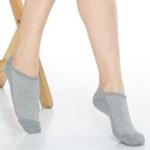 《【KEROPPA】》可諾帕細針毛巾底氣墊船型襪(4雙(男女適用)C91001-灰色)