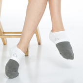 《【KEROPPA】》可諾帕竹碳氣墊船襪(3雙(男女適用)C90015-白)
