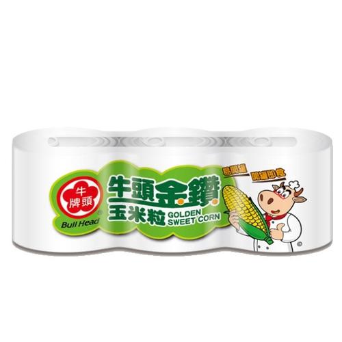 《牛頭牌》金鑽玉米粒(340g*3罐/組)