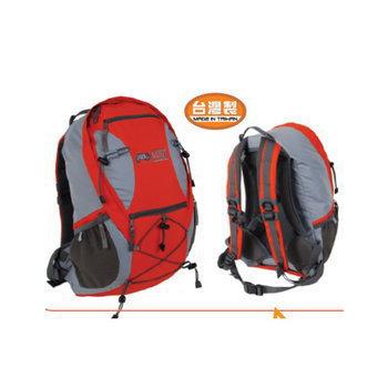 RHINO 犀牛 新款 20公升 透氣網架式背包(附防雨罩) 多功能背包/G520(橘灰)