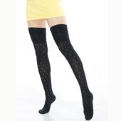 《【KEROPPA】》可諾帕流行膝上大腿女襪(菱格紋)(2雙(專利產品)92002-C57)