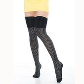 《【KEROPPA】》可諾帕流行膝上大腿女襪(點點瘋)(2雙(專利產品)92002-C42)