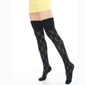 《【KEROPPA】》可諾帕流行膝上大腿女襪(幾何圖)(2雙(專利產品)92002-C28)