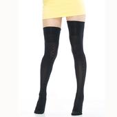 《【KEROPPA】》可諾帕流行膝上大腿女襪(閃電)(2雙(專利產品)92002-C13)