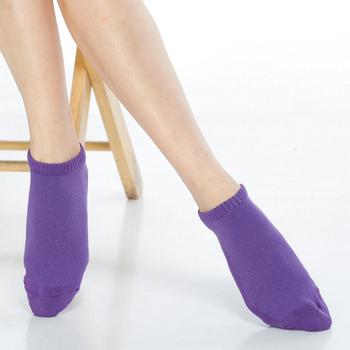 《【KEROPPA】》可諾帕細針毛巾底氣墊超短襪(4雙(男女適用)C91005紫色)