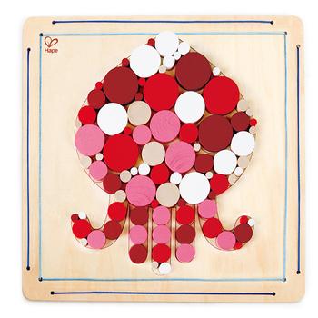 德國Hape愛傑卡 木製工藝系列章魚木珠拼貼