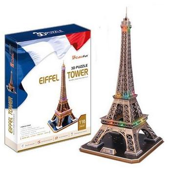 《3D建築拼圖》精裝達人版 - 巴黎埃菲爾鐵塔(個)