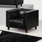 《AGNES 艾格妮絲》歐麗低背現代簡約風馬鞍皮沙發單人座(四色可選)(黑色)