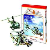 《3D建築拼圖》初階入門版 - 戰鬥直升機 (2入)(個)