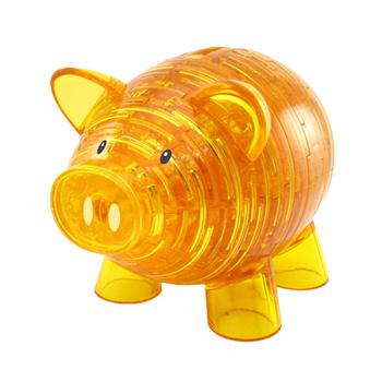 3D水晶拼圖 3D水晶拼圖 - 進階達人系列 - 幸福小金豬撲滿(個)