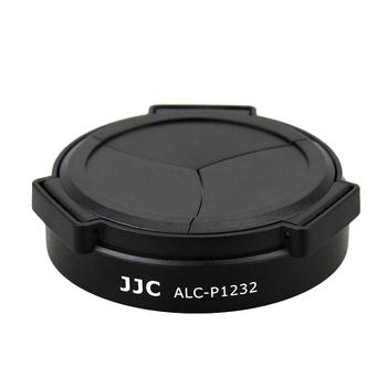 JJC Panasonic自動鏡頭蓋G Vario HD 12-32mm自動鏡蓋1:3.5-5.6 ASPH自動蓋自動鏡前蓋自動賓士蓋(ALC-P1232,黑色)