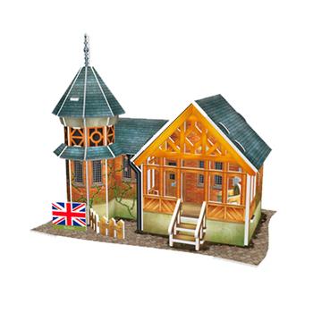 《4D手作紙雕》英國 - 英式別墅(個)