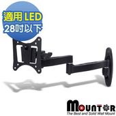《Mountor》鋁合金單懸臂拉伸架/電視架-適用28吋以下LED(MAR012)