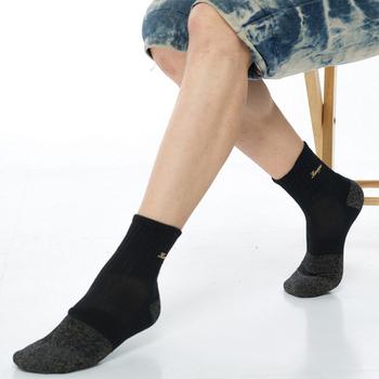 ★結帳現折★【KEROPPA】 可諾帕健康銀纖維運動男短襪(1雙C98003G灰黑)
