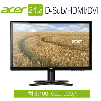 Acer宏碁 G247HYL 24型 不閃屏、低藍光 IPS液晶螢幕