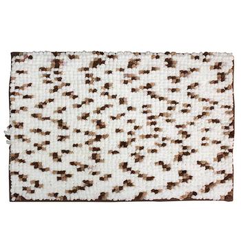 《巴芙洛》新款雪尼爾踏墊(40×60cm咖啡)