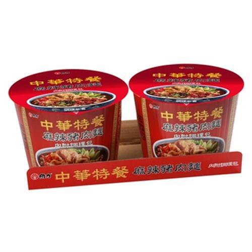 維力 中華特餐桶-麻辣豬肉麵(140g*2入/組)