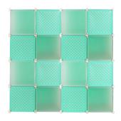 《舞動創意》周年慶限時限量款16格16門收納櫃_五色可選(綠色)
